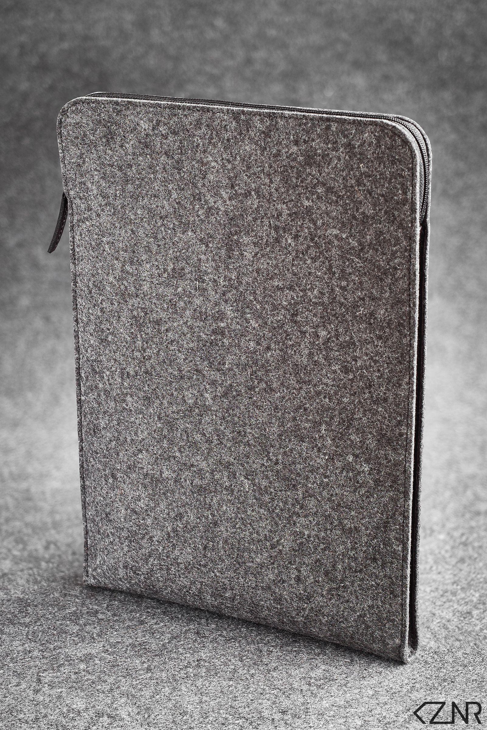Laptop Macbook Air Felt and Leather Folio Case Handmade
