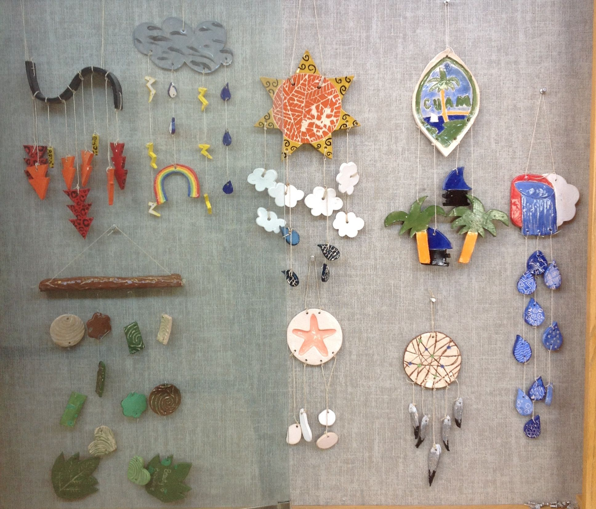 Great high school intro to ceramics project wind chimes for Ceramic clay ideas