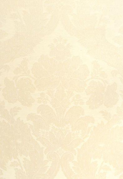FSchumacher Fabric 55572 Rufina Damask Ivory