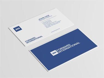 Forward International Business Card Company Business Cards Business Card Logo Cards