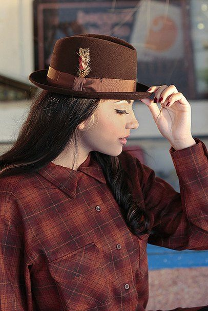 dfafd3c2124d1 Bright brown short brimmed felt womens fashion fedora with feather Fedora  Hat Women