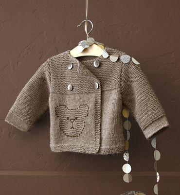 4f5ffd367ea09 Modèle brassière 100% laine bébé - Modèles tricot layette - Phildar