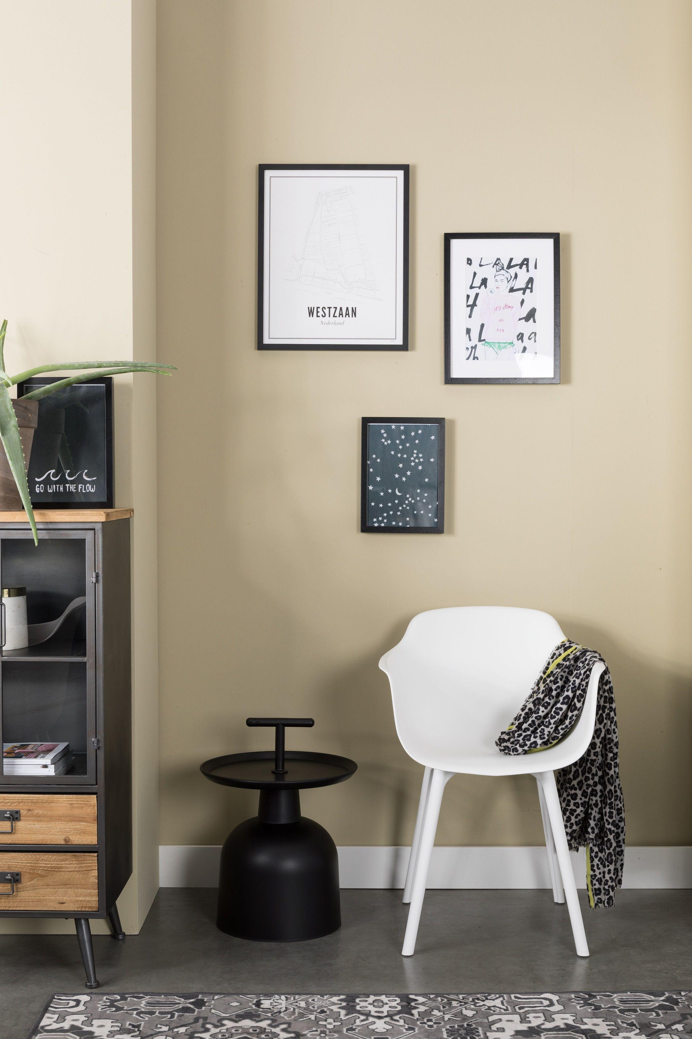 Chaise A Coque Design Mae Blanche De La Marque White Label Living Elegante Et Moderne
