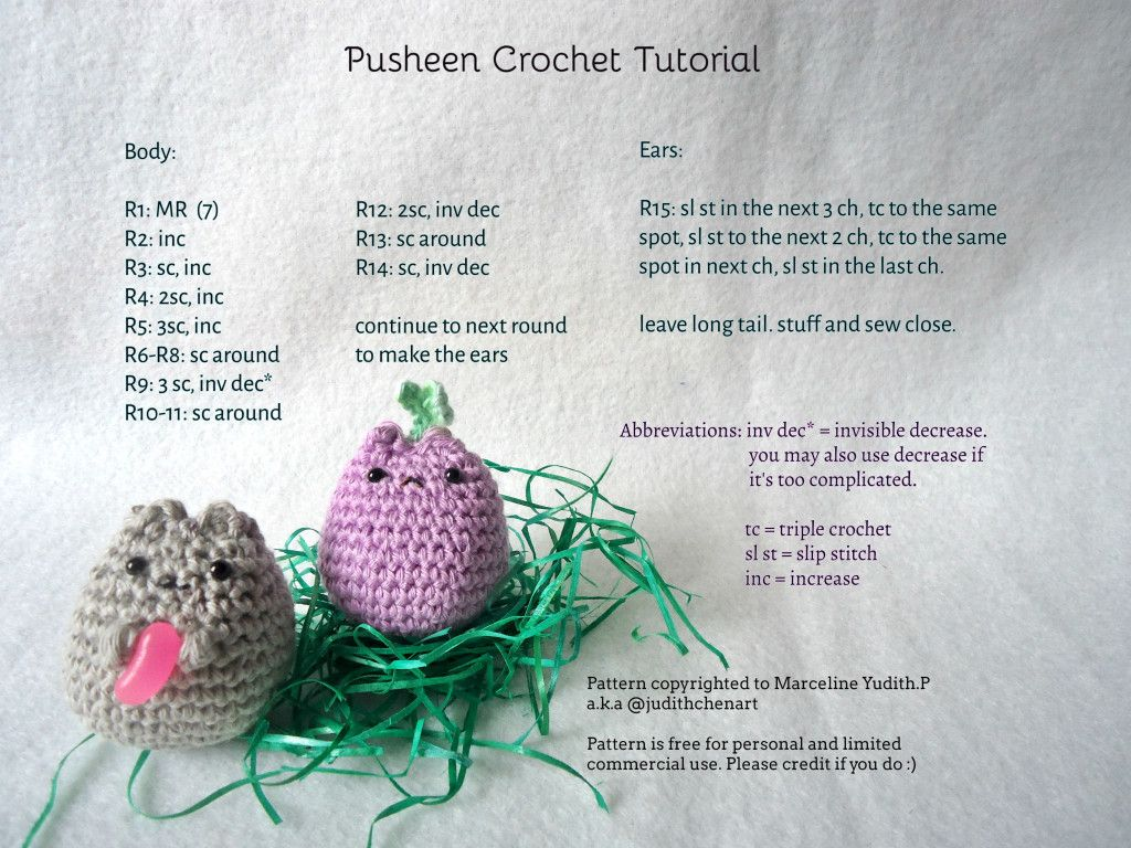 Crochet Pusheen Amigurumi -Free English Pattern | Crochet Amigurumi ...