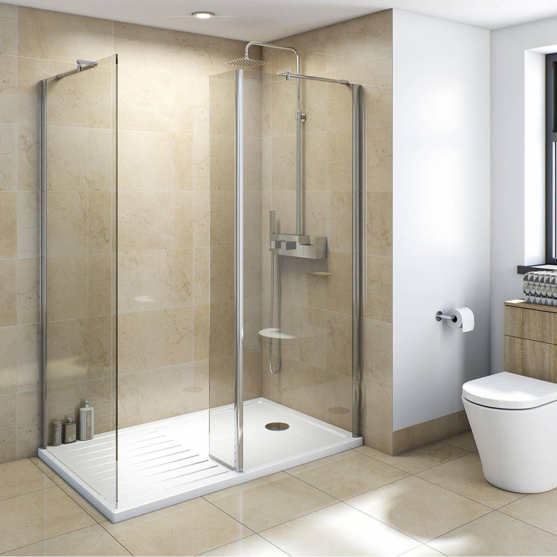 V8+ Walk In Shower Enclosure Pack 1400 X 900 - Victoria Plumb