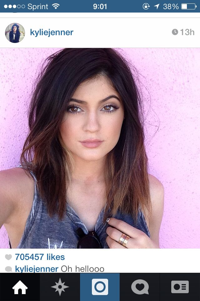 Kylie Jenner\u0027s hair. Long bob.