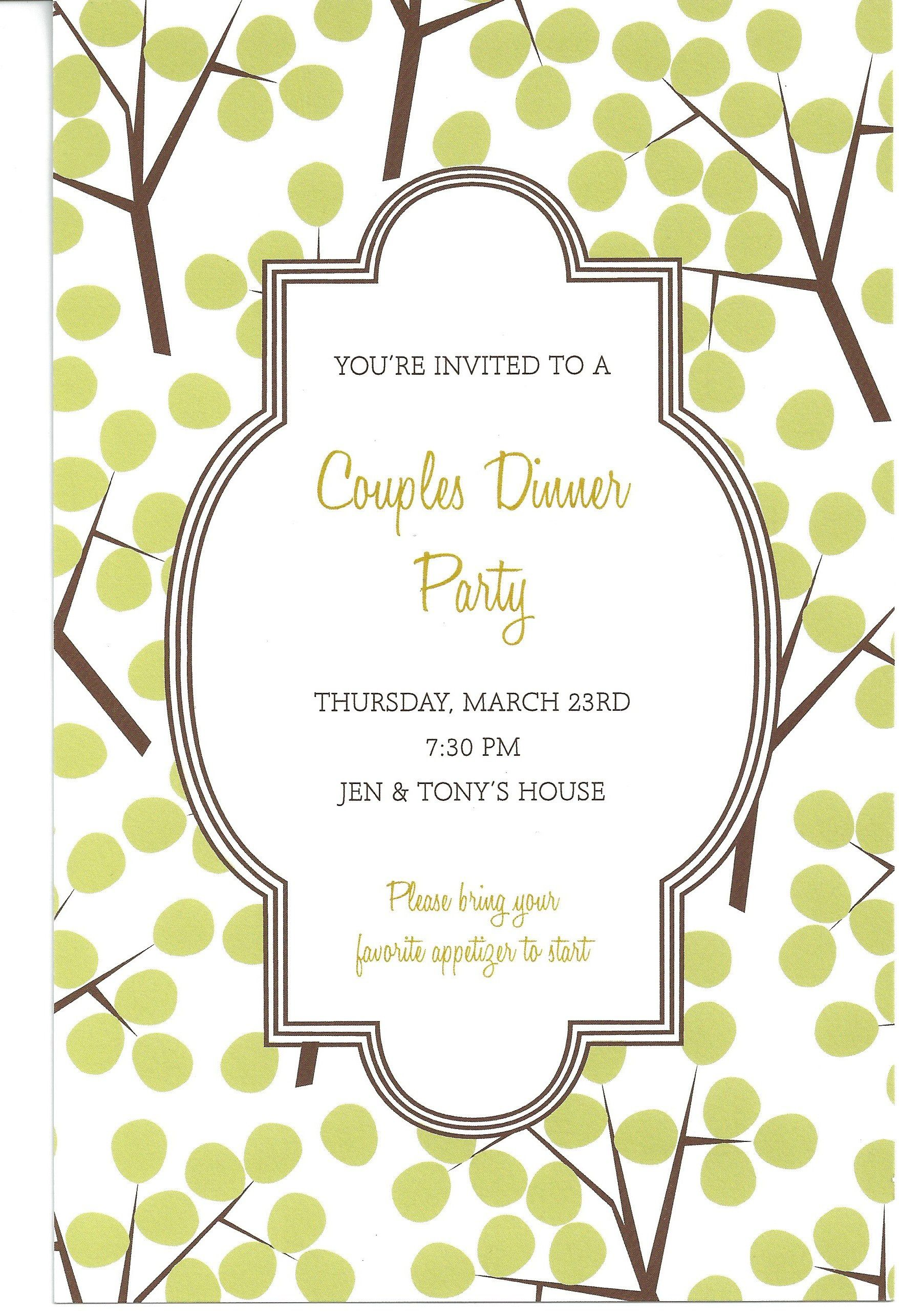 Downloadable Dinner Invitations Templates – Free Dinner Invitations