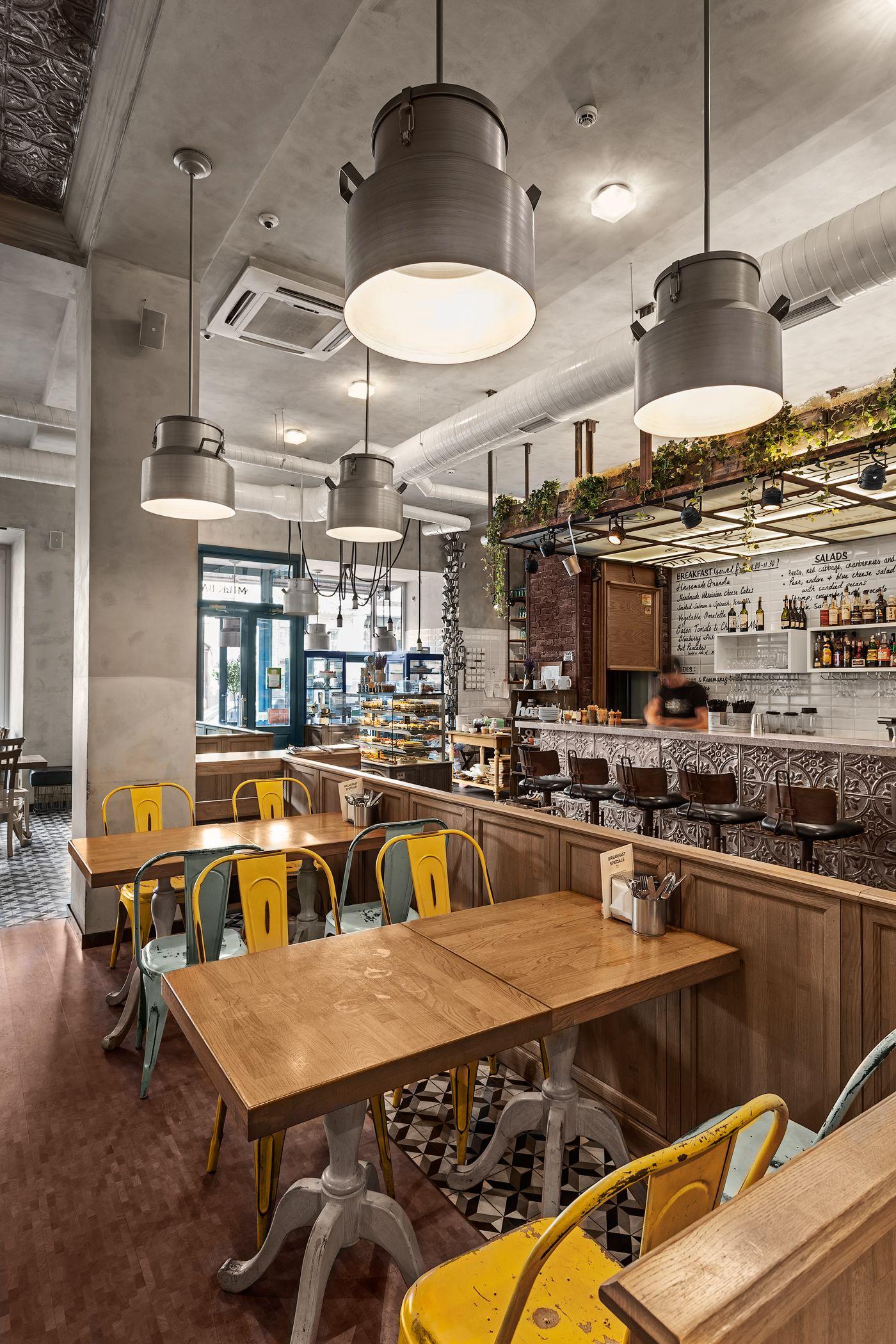 Milk Bar Kiev Ukraine On Behance Interior Coffee Shop Home