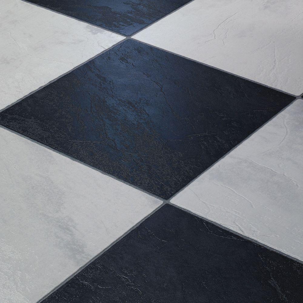 Black White Checkerboard Weißer laminatboden, Laminat