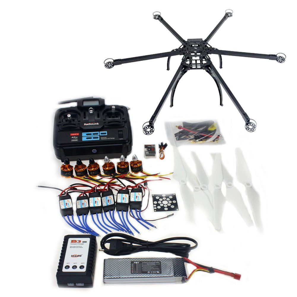 QWinOut DIY Unassembled Folding Hexacopter Aircraft QQ SUPER Flight Controller ARF/RTF Combo Kit. Digital 2.4GHz 6-Channel RC system T6EHP Adopted Fhss 2.4ghz Technology, It Is Applied For 3d Helicopter. 2212 920KV CW CCW Motors. 30A Brushless ESC Speed Controller. QQ SUPER Multi-rotor Flight Control Built-in 3-axis Gyroscope. Six-Axis Multi-rotor DIY Folding Hexacopter.