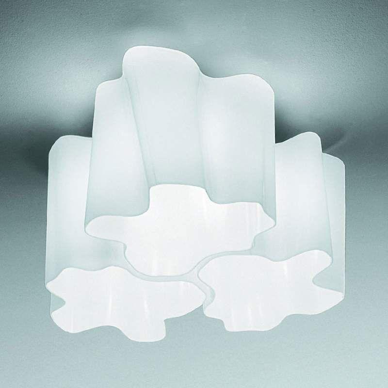 Artemide Logico Deckenlampe 3fl. 120° 33x33 cm (mit ...