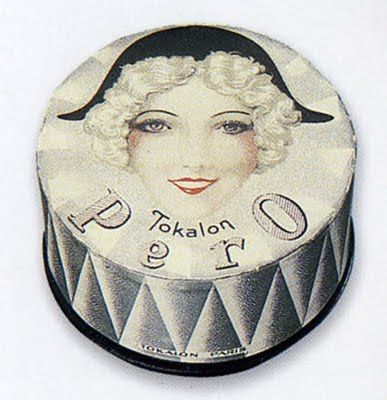 vintage face powder packaging