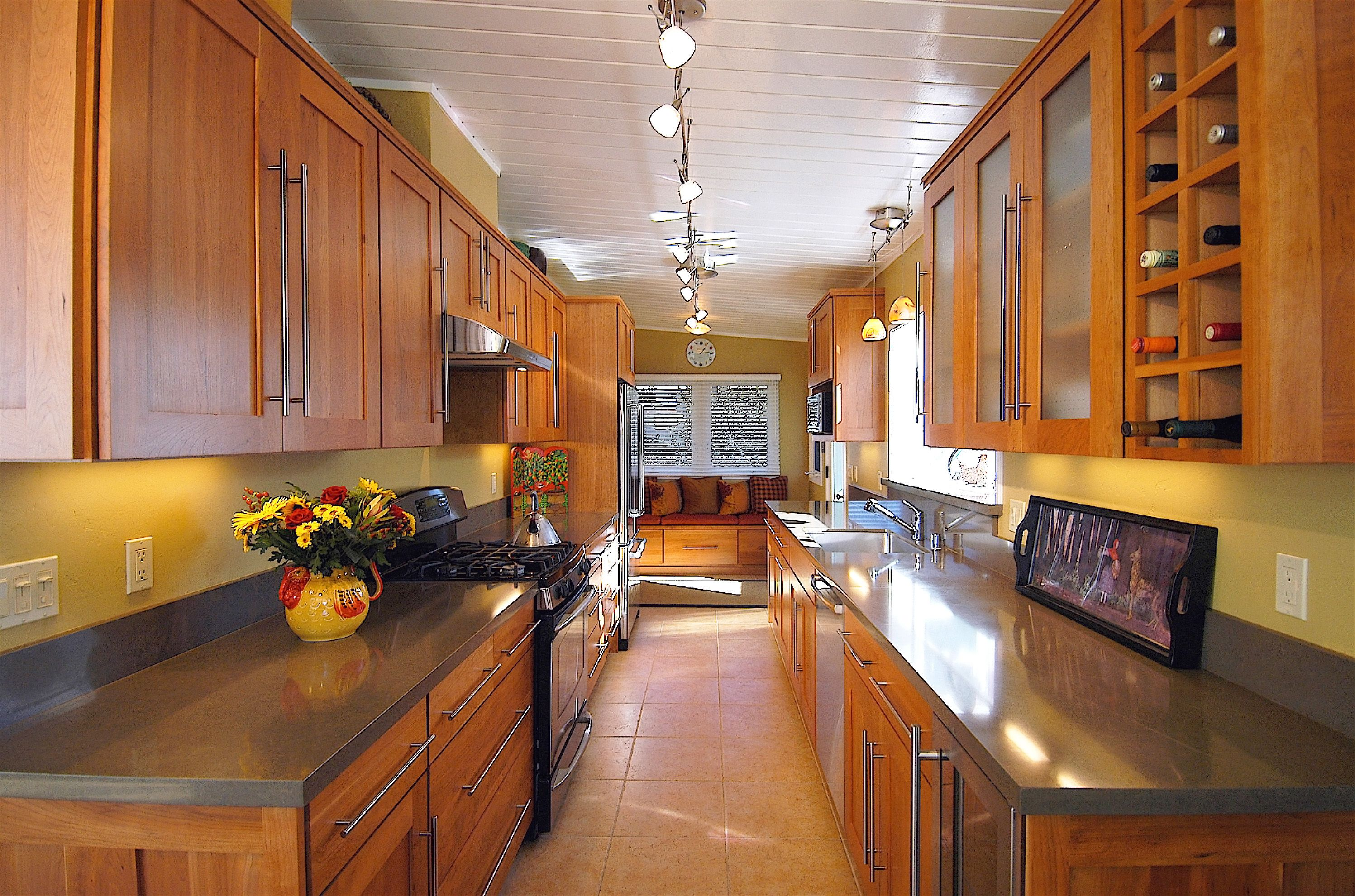 Best This Mid Century Modern Kitchen Is Known As A Galley 400 x 300
