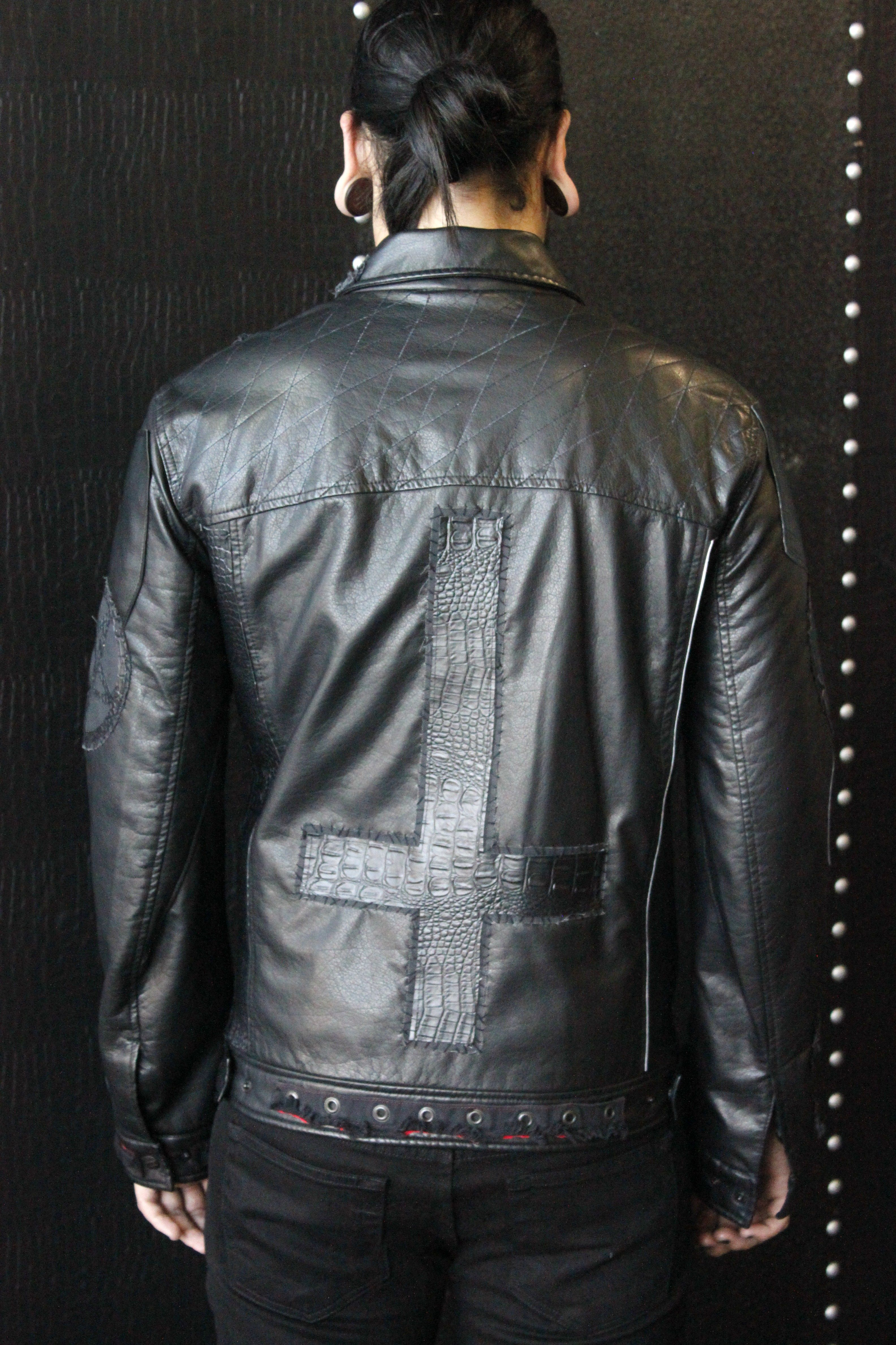 eaa559b13 Forgotten Saints LA Faux Leather Stage Jacket with Inverted Cross ...