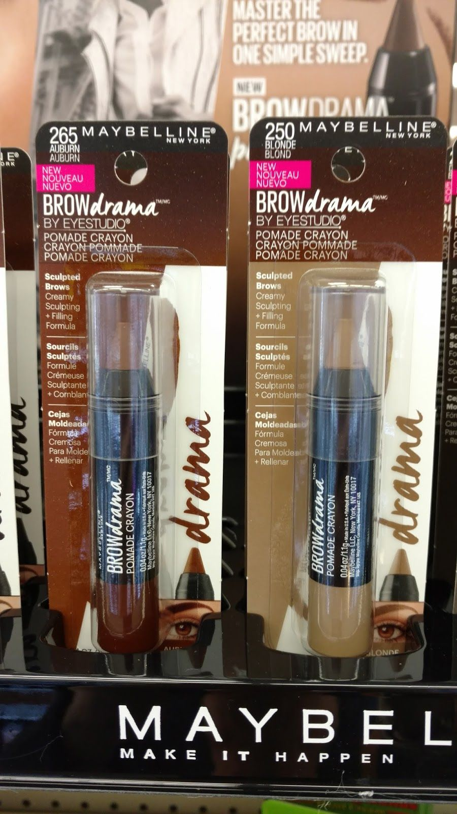 69af15a96da Maybelline Brow Drama Pomade Crayon #mnybrows (received these products  complimentary for testing purposes)