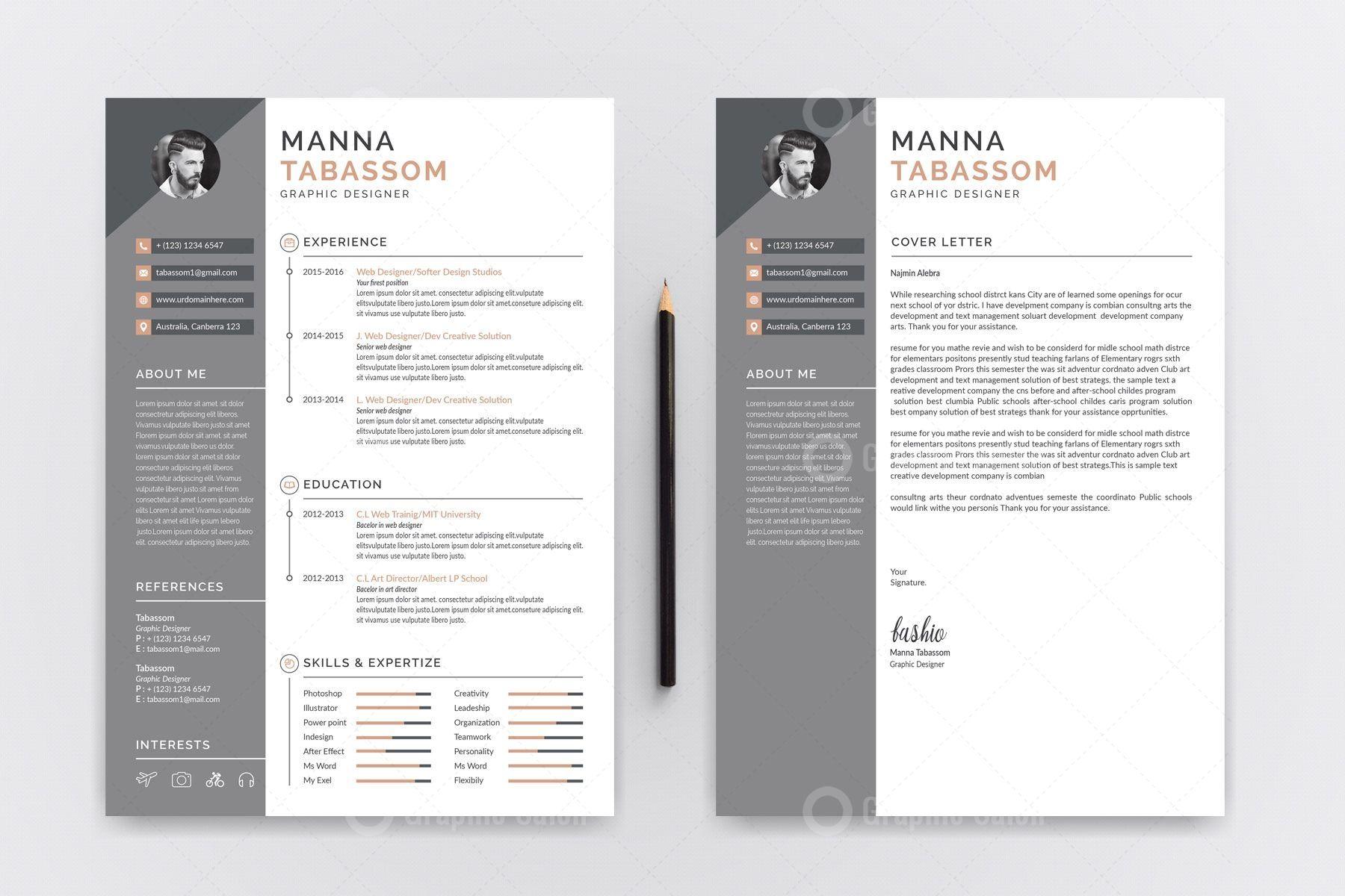 Creative Resume CV Templates 5.99 in 2020 Cv template