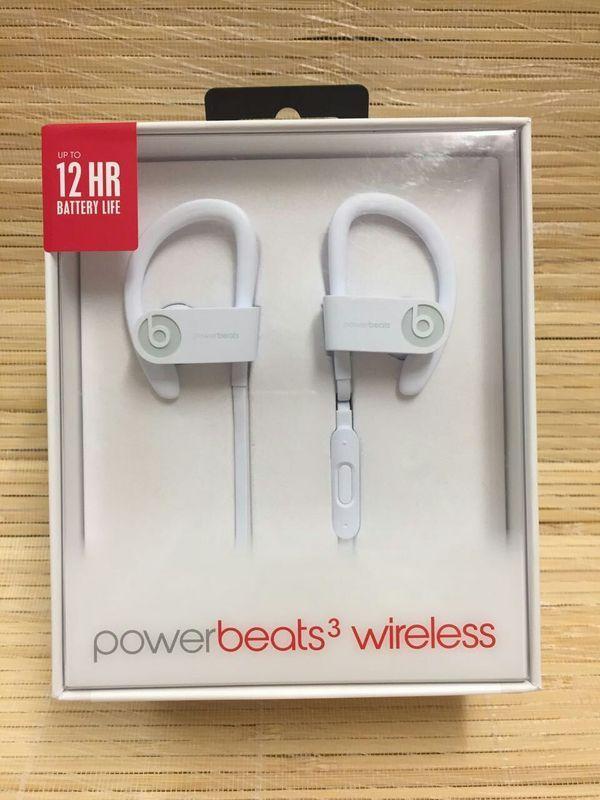 Powerbeats3 Wireless Earphones - White Now £129.98, Save £39.97