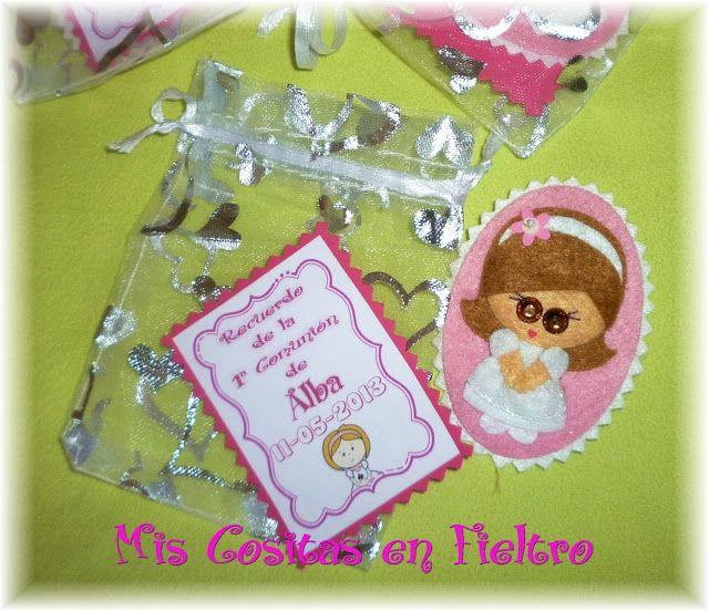 Mis Cositas en Fieltro. Productos artesanales elaborados en fieltro: broches, llaveros, accesorios para el pelo, muñecos, portafotos,... Par...