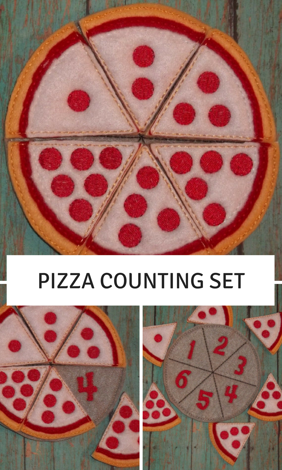 Pizza Counting Set learning toy great for Children, Kids