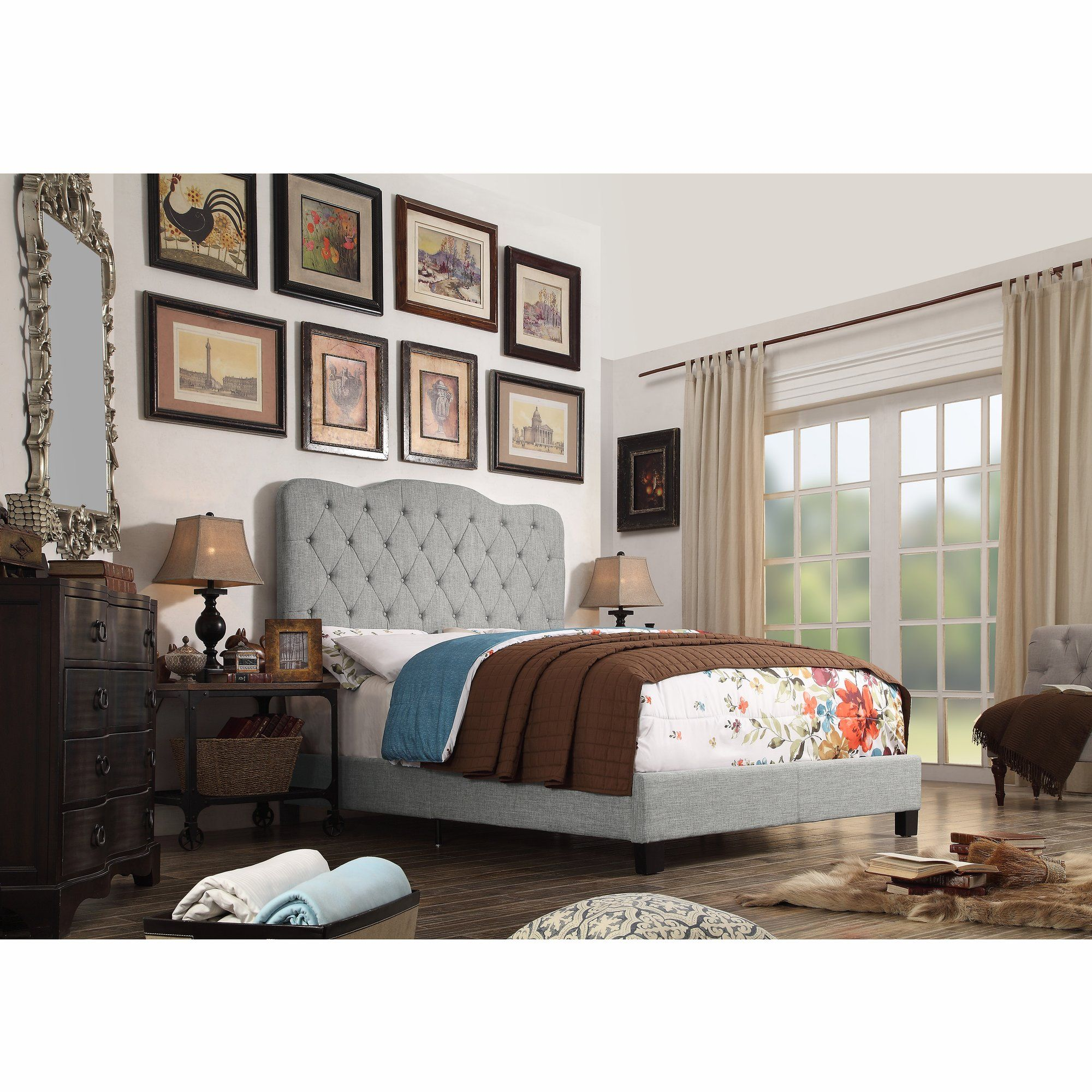 Customer Image Zoomed Tufted upholstered bed