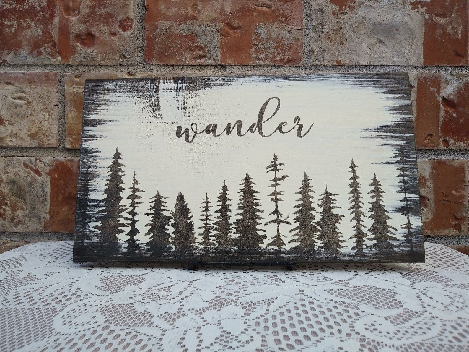Wander Reclaimed Wood Sign Etsy Painted Wood Signs Reclaimed Wood Signs Diy Wood Signs
