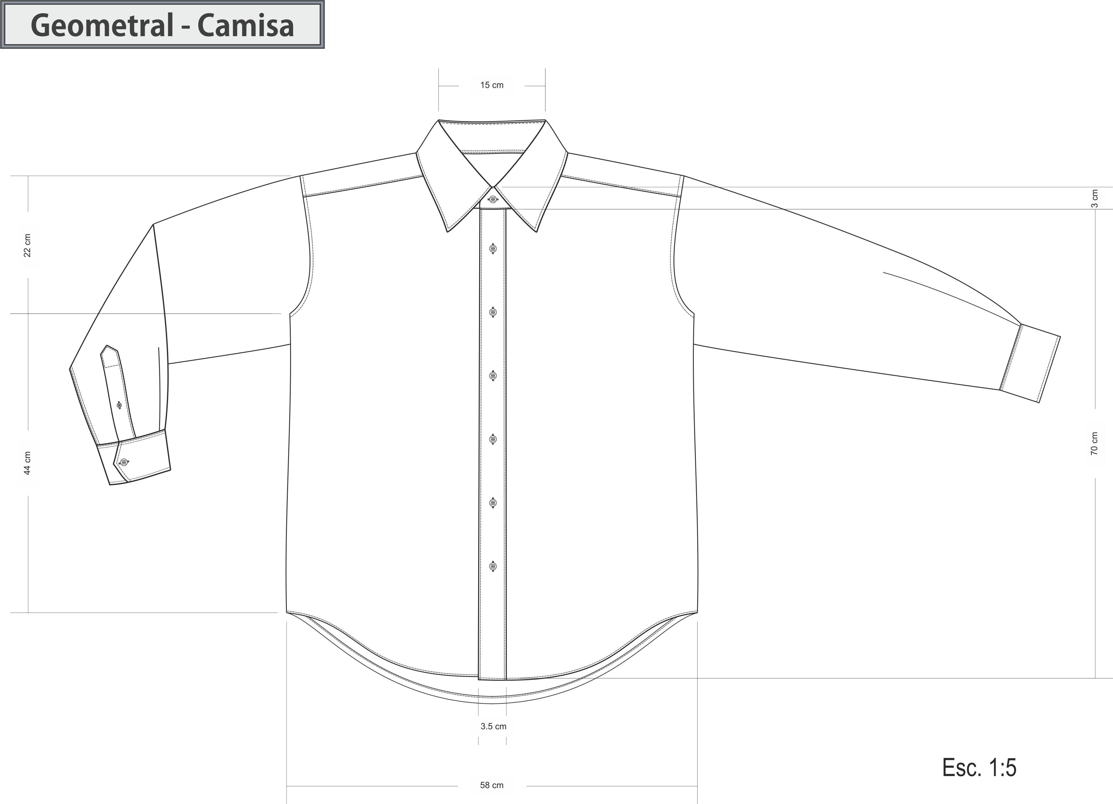 Dibujo Tecnico Geometral Camisa Delantera Diseno De Indumentaria Camisas Ropa Para Ninas