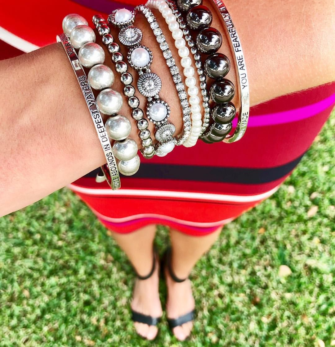 Make today awesome just like this arm party bling bling