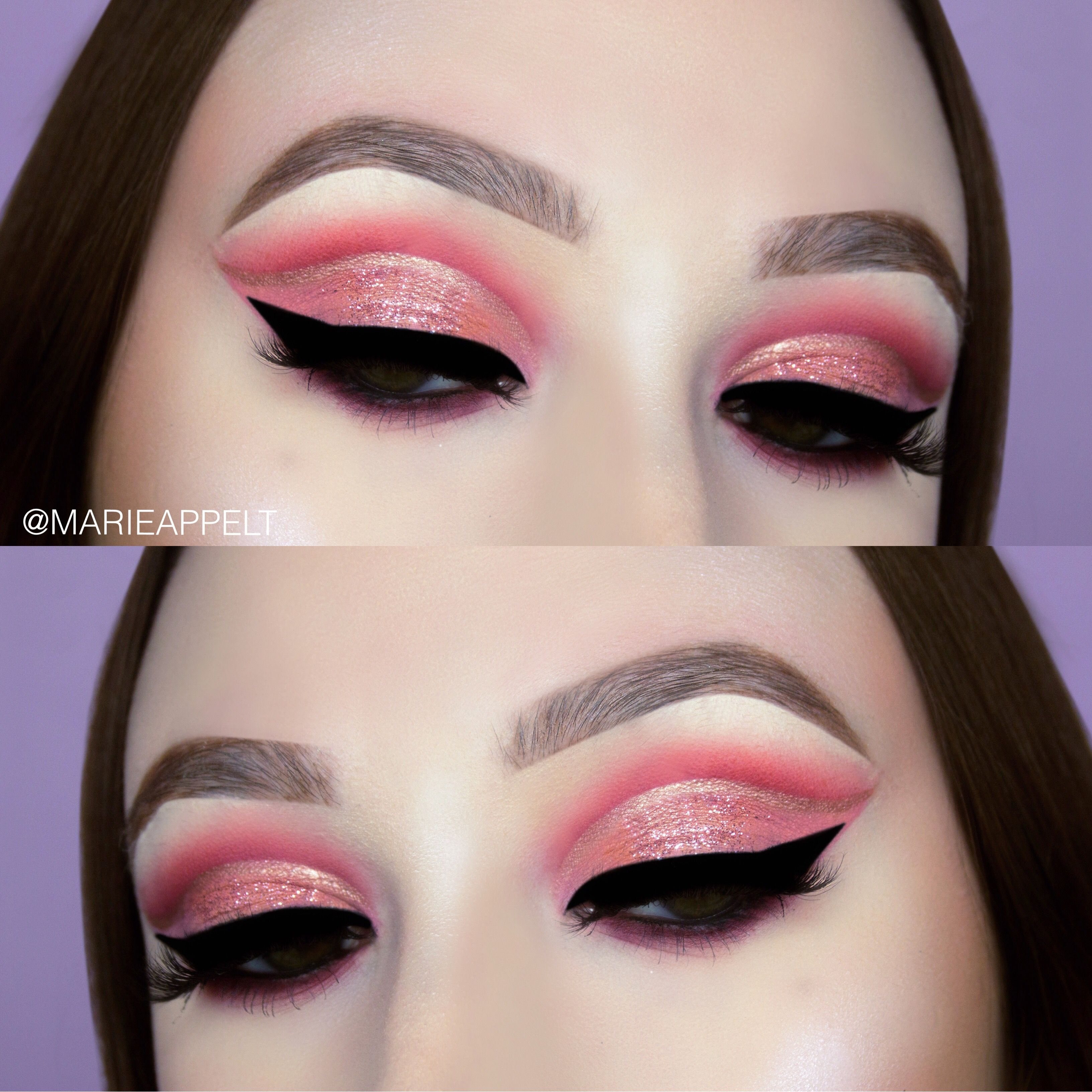 Valentines day makeup tutorial 2018 pink glitter cut crease huda valentines day makeup tutorial 2018 pink glitter cut crease huda beauty mauve obsessions palette hudabeauty baditri Gallery