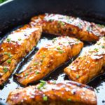 Easy One Pan Maple Glazed Salmon - The Busy Baker