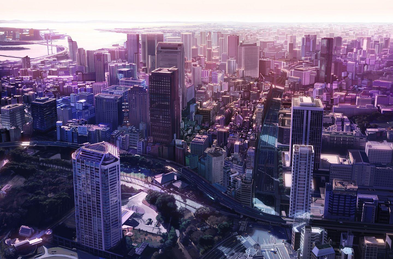 Big City In Purple Shimmer
