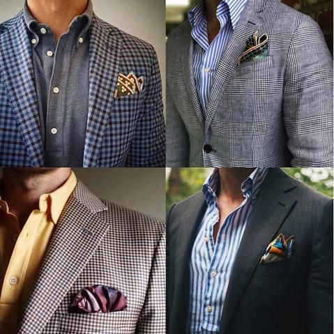 Pocket Square Rules And Etiquette In 2019 Man S Suits Pocket