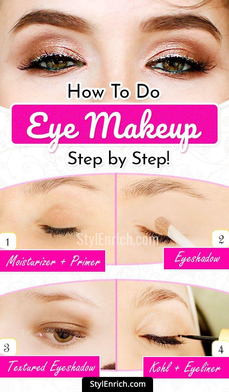 Natural Eye Makeup Tutorial : How To Apply Eye Makeup Step