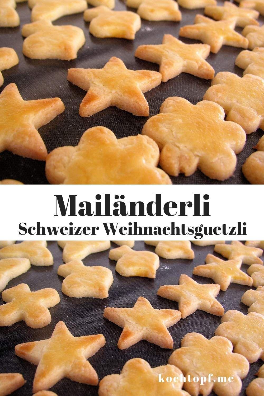 Weihnachtsplätzchen Schweiz.Mailänderli