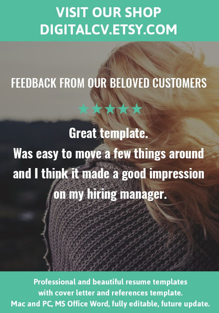 Feedback from our beloved customers Visit DigitalCVEtsy for - feedback template word