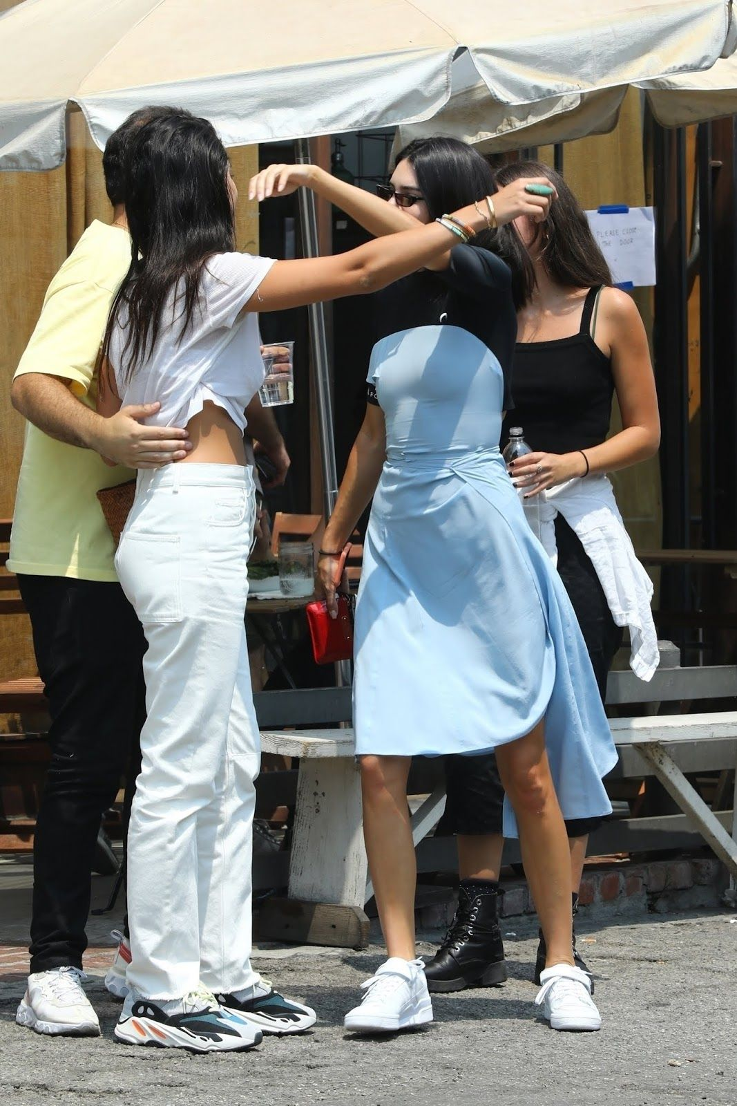 10418e4071c Kendall Jenner shows off her Summer style in a baby blue dress in Los  Angeles –