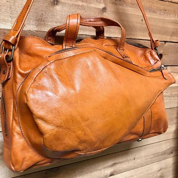 Vintage Tennis Racket Bag Vtg Large Bright Brown Leather Racquet Sports Bag Vintage Tennis Bags Tennis Bags