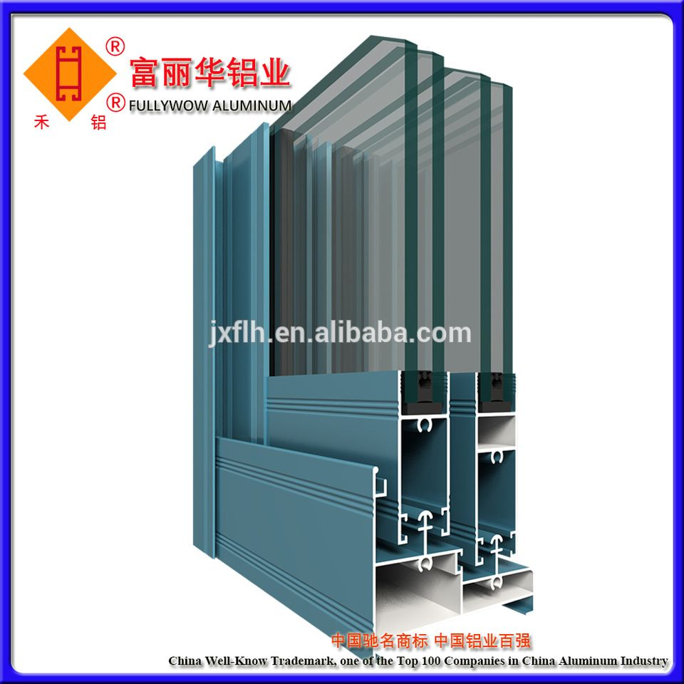 Electrophoresis painting thermal break aluminium profile for