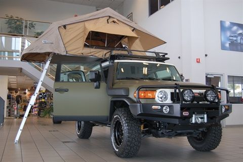 The XPLORE edition FJ Cruiser shown above sports a rooftop tent off- & The XPLORE edition FJ Cruiser shown above sports a rooftop tent ...