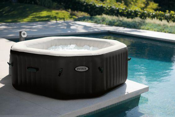Pure SPA Octagon Jet + Bubble Aufblasbarer Whirlpool Intex 140 #SPA #Pools  #Wirlpool