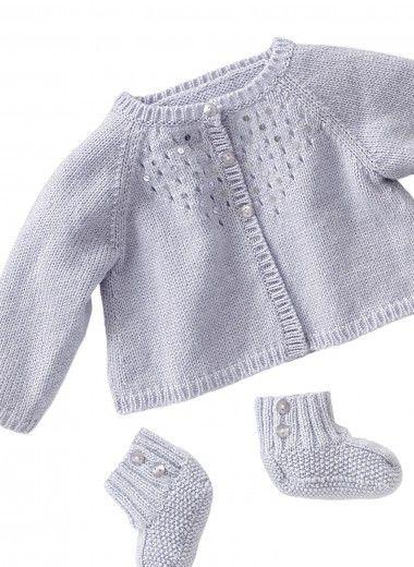 Mag 160 22 Short Cardigan And Bootees Buy Yarn Buy Yarn
