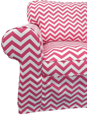 Ikea Ektorp Armchair Slipcover In Pinky Chevron Ikea Inspiration Chevron Bright Pillows