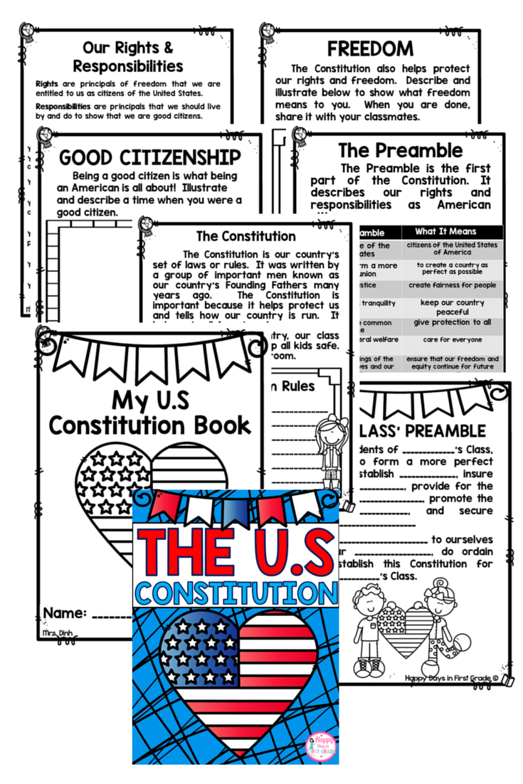 Worksheets Good Citizenship Worksheets us constitution 1st2nd3rd citizenship activities and students teaching social studies