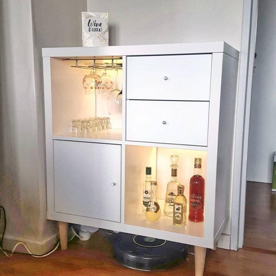 Cool Kallax Bar Ikea Bar Home Bar Furniture Ikea Diy