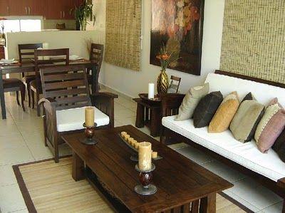 Sala comedor de madera pequeña | Sala | Como decorar la sala ...