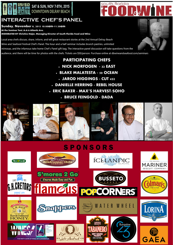 2015 Chef's Panel at Delray Beach Wine & Seafood Festival