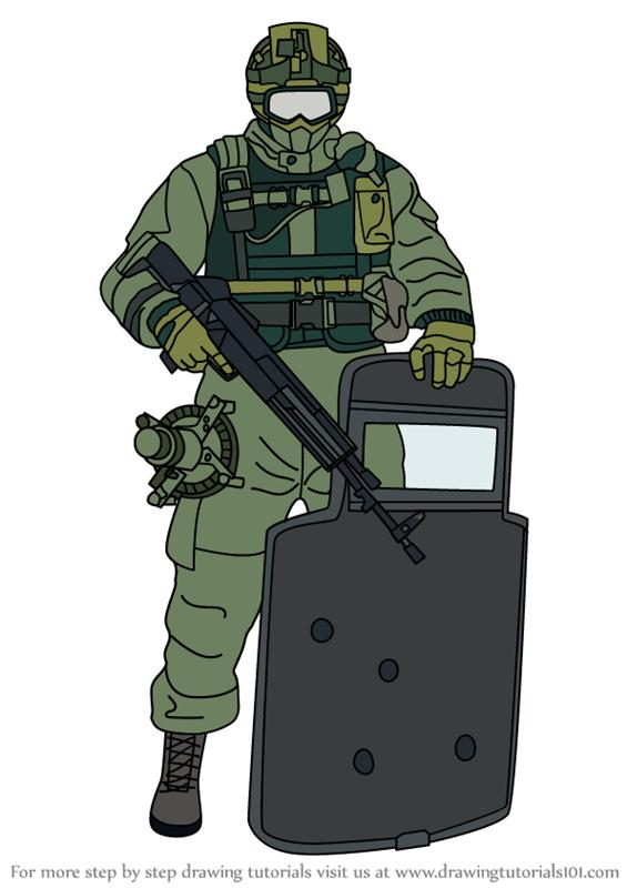 How To Draw Fuze From Rainbow Six Siege Rainbow Six Siege Art