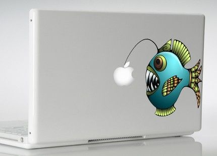 Angler fish computer sticker