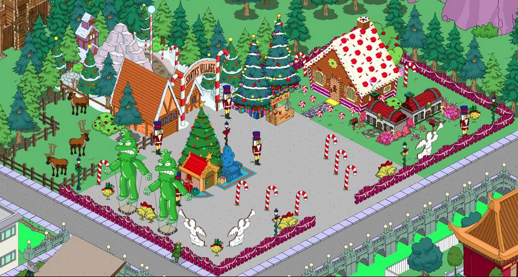 Simpsons Christmas Village.Christmas Village Layout Village Landscape The Simpsons