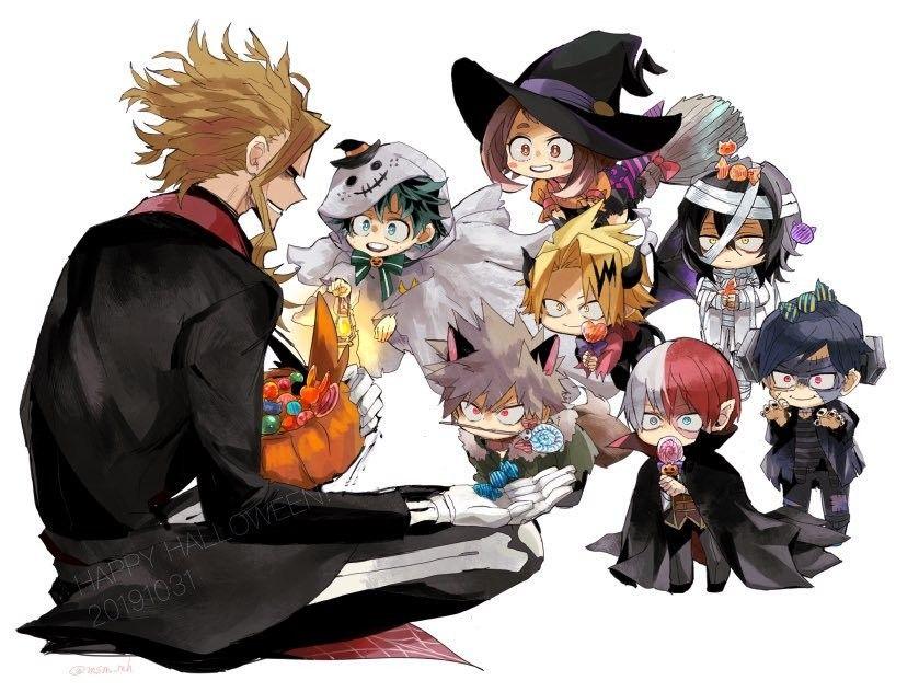 Msm Mha My Hero Hero Wallpaper Anime Halloween