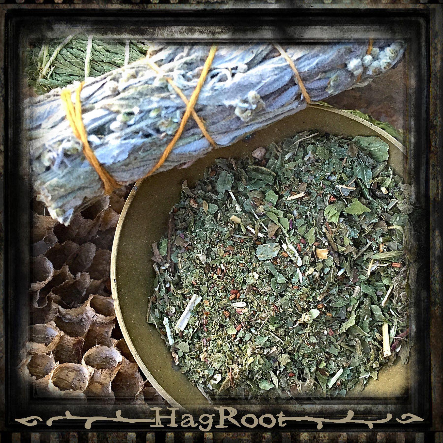 CALM SPIRIT-Sacred Herbal Smoking Blend-(Blackberry Leaf